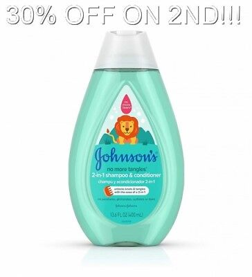Johnsons Baby Detangling 2-in-1 Kids Shampoo Conditioner, Tear Free, 13.6 Oz