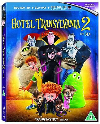 HOTEL TRANSYLVANIA 2 [Blu-ray 3D + 2D] (2015) Animated Movie Dracula Drac Pack
