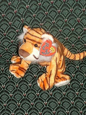 "TY OASIS THE 2.0 BEANIE TIGER - 6"" LONG - UNUSED CODE - 2008 - Unused Code MWMT"