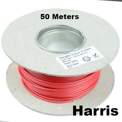 Red Single Core Flexible Cable  Automotive Electricalmulti Strands Wire 8.75 A
