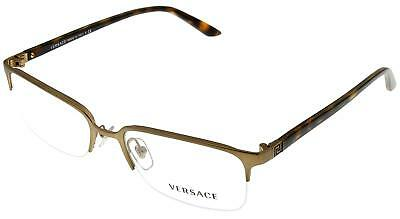 74e28737489 New VERSACE Frames Semi Rimless Matte Gold RX Eyeglasses VE 1219 1325 54-18-