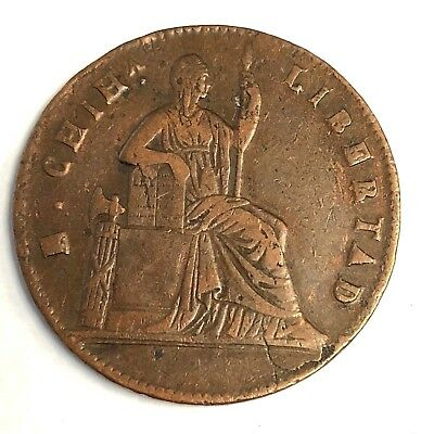 1860 Mexico 1st Republic CHIHUAHUA State 1/4 Real copper, KM#344, Nice Condition