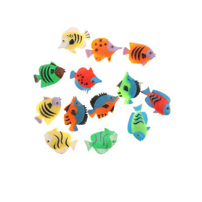 12Pcs Realistic Tropical Fish Model Set Kids Educational Pretend Play Toy
