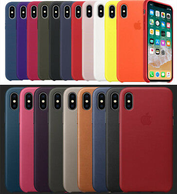 Original Silicone & Leather Case For IPhone X XS MAX XR 6 7 8 Plus Genuine Cover