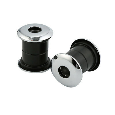 2 × Black Handlebar Bushings For Harley Dyna Fat Bob Wide Glide Heritage Softail