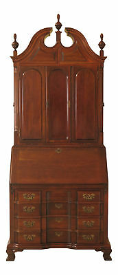 F46126EC: MADDOX Chippendale Blind Door Cherry Secretary Desk