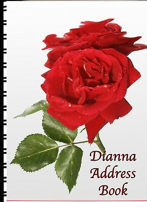 Address Book Red Rose