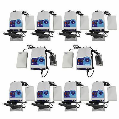 10 Sets Dental lab Marathon Polisher Micromotor Control & 50K RPM Handpiece M3#N