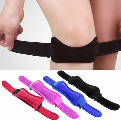 Sport Knee Wrap Protector Gym Patella Tendon Support Adjustable Brace Strap Band
