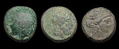 GREEK. Lot of 3 bronze coins to ID, various types