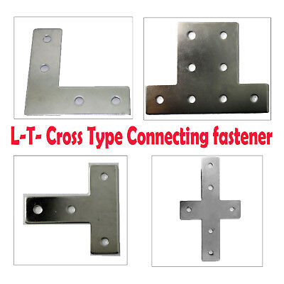 L-T- Cross Type Connecting fastener for 20 30 40 Aluminum Extrusion Framin