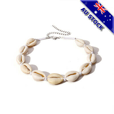 Handmade Shell Chain Choker Necklace Beach Style Fashion Jewelry