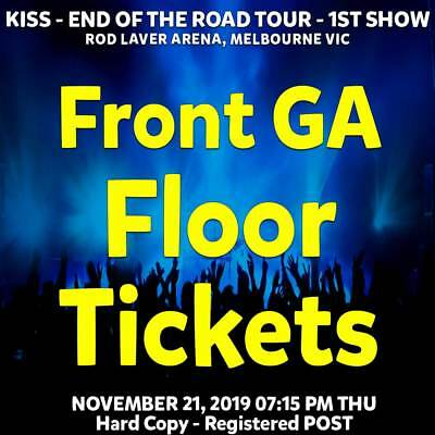 Kiss : End Of The Road | Melbourne | General Admit Front Tickets Thu 21 Nov 2019