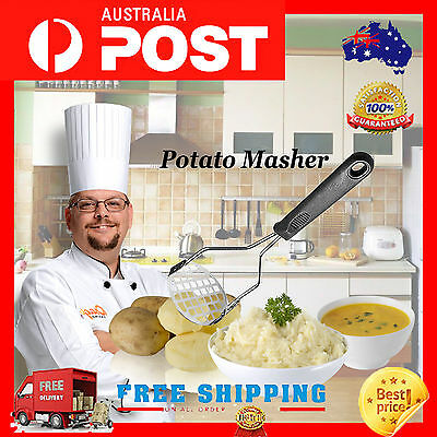Stainless Steel Hand Held Potato Masher Ricer Puree Juice Maker Presser