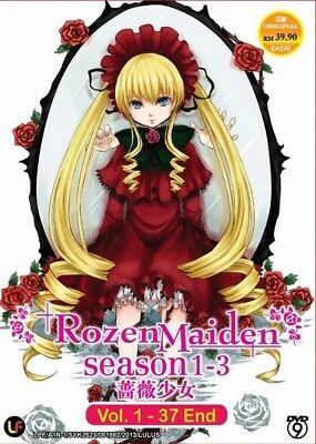 ROZEN MAIDEN TV S1-S3 | Eps.01-37 | English Subs | 2 DVDs (M1882)
