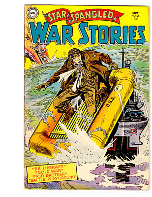 STAR SPANGLED WAR STORIES #25 in FN+ a 1954 DC Golden Age WAR comic