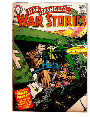 STAR SPANGLED WAR STORIES #58 in FN+ condition 1957 DC Golden Age WAR comic