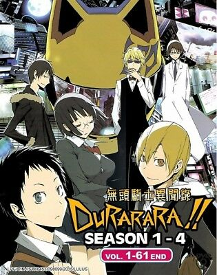 DURARARA!! Box | TV S1+S2+S3+S4 | Eps. 01-61 | Engl. Subs | 8 DVDs (GM0348)
