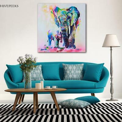 Stylish Animal Figure Abstract Wall Art Oil Painting Canvas Painted Poster US