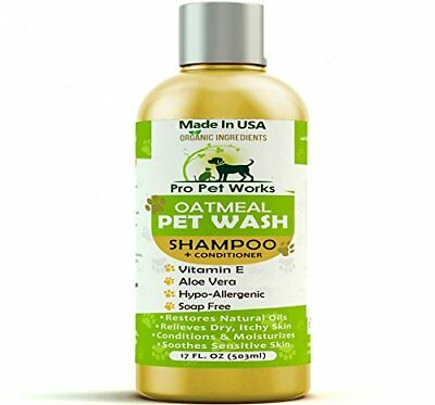 Pro Pet Works Natural Oatmeal Dog Shampoo + Conditioner for Dogs and and Soap &