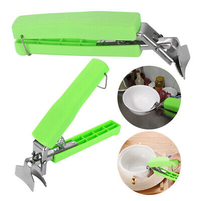 Hot Bowl Holder Plate Clamp Pot Pan Gripper Clip Tongs Silicone Handle Kitchen