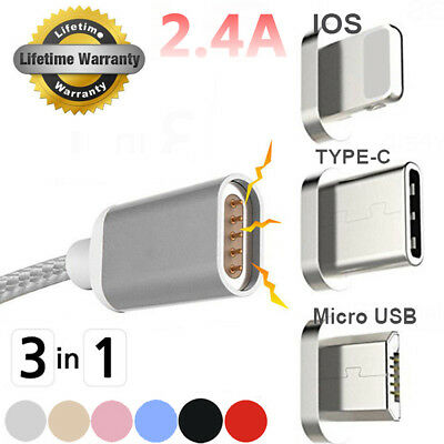 Magnetic Adapter USB Charging Data Cable Charger for iPhone 6 7 Samsung LG HTC