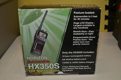 Standard Horizon Submersible HX350S Marine VHF Portable Radio