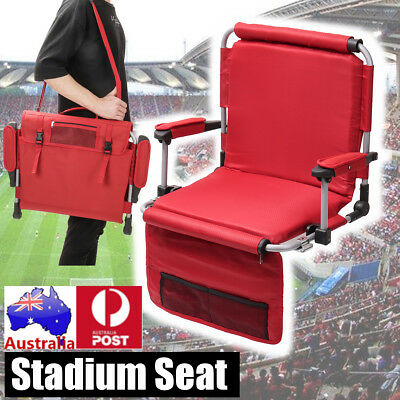 Portable Stadium Seat Folding Beach Concert Picnic Accessories Wide Padded Chair