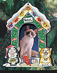Cat House Picture Frame Ornament