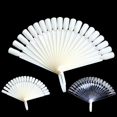 20 Tips Nail Art False Display Fan Board Chart Color Sample Practice Polishing ~