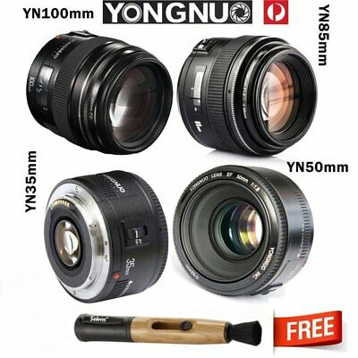 Yongnuo YN100mm 85mm 50mm 35mm EF AF/MF Prime Fixed Lens with Pen for Canon EOS