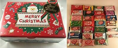 28pc Japanese Christmas KitKat Gift Box Set - 28 flavors Japan Kit Kat kats