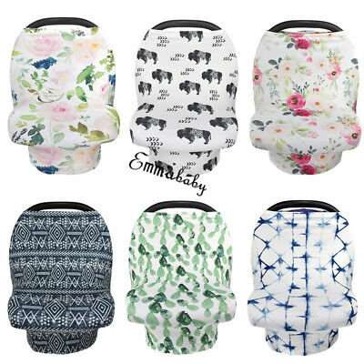Multi-use Nursing Breastfeeding Privacy Scarf Cover Shawl Baby Car Seat Canopy