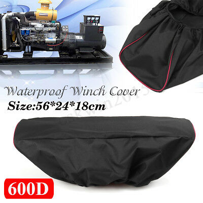 600D Waterproof Soft Winch Dust Cover Heavy Duty Driver Recovery 8000-17000lbs