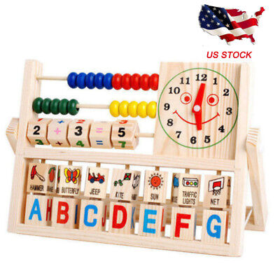 Wooden Abacus Learning Early Educational Development Toys For Kids Boy Girl Baby