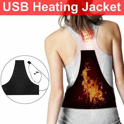 Electric Heating Vest Pad Cloth 3 Gear Temp USB Charge Thermal Jacket Washable