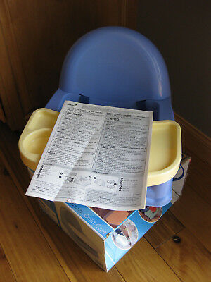 Safety 1st Easy Care Swing Tray Child Booster Seat Blue Baby Toddler High Chair