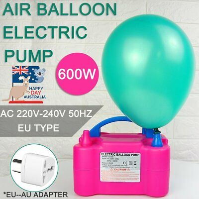 Two Nozzle Air Blower Electric Balloon Inflator Pump Christmas Birthday Party FK