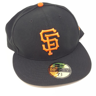 the latest a301f d04a9 New Era 59FIFTY San Francisco Giants Black MLB 2017 Field Game Fitted Cap  Size 7