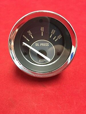 ISP 52mm Oil Pressure Gauge Black/White
