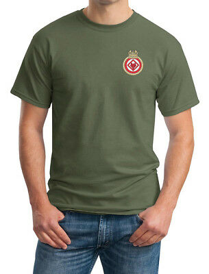 HMS Atherstone - Official Royal Navy - Army Green Embroidered T-Shirt