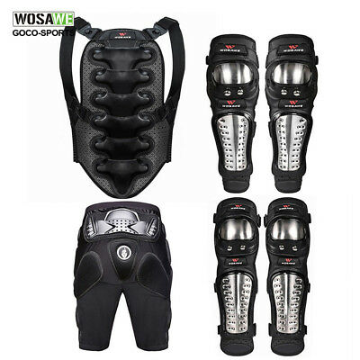 Motorcycle Body Armor Back Spine Support Hip Shorts Pad Elbow Guard Motocross