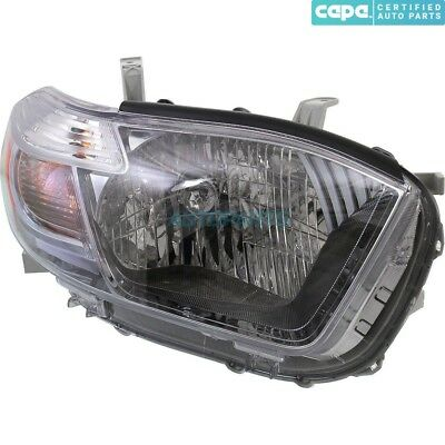 New Right Halogen Head Lamp Assembly Fits 2010 Toyota Highlander To2503202C Capa