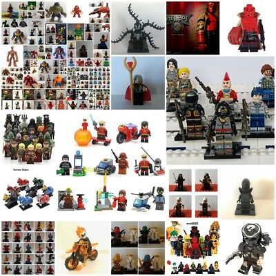 lego minifigure custom avengers -batman -fortunite-gli incredibili 2-horror tv