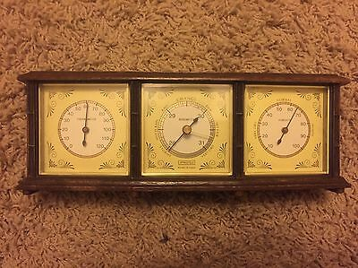 Weather Station Barometer Springfield Made In USA NOS Vintage