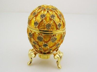 """Faberge Imperial Coronation Egg  2 3/4"""" with stand"""