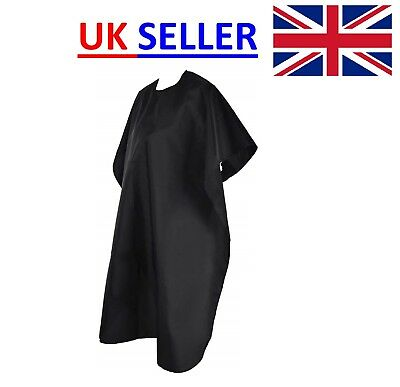 Barber Apron Cape Gown Black Hair Cutting Salon Hairdressing Waterproof Unisex