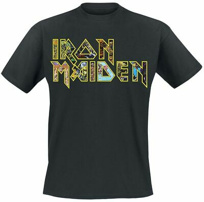 Iron Maiden Eddies Logo T-Shirt schwarz