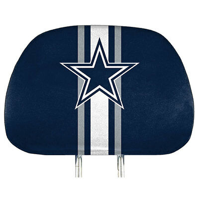 Dallas Cowboys Two Pack Printed Head Rest Covers New & Officially Licensed