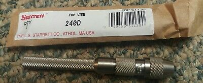 240D Pin Vise Tapered Collet Starrett USA .110-200""